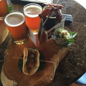 Craft / Food pairing at the onsite restaurant